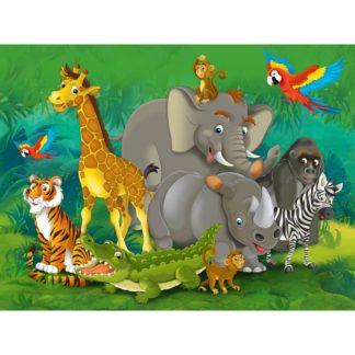 - AG Art Dětská fototapeta XXL Zvířata v džungli 360 x 270 cm
