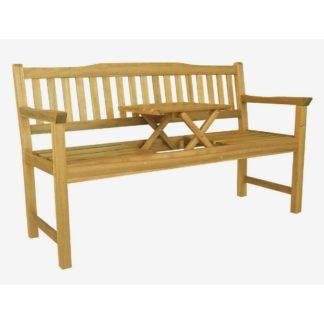 - ALDOSRO Dřevěná lavička Eva se stolkem uprostřed - 8594174763585
