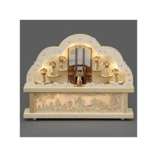 - Adventní dřevěný svícen Varhany