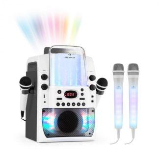 Auna - Auna Kara Liquida BT grau + Dazzl Mic Set Karaokeanlage Mikrofon LED-Beleuchtung - 4060656077876