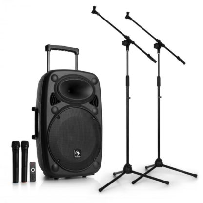 Auna - Auna Streetstar 15 mobilní PA-zařízení 2 x mikrofonní stojan sada 15 '' - 4260528644049
