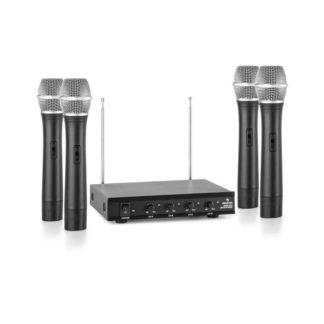 Auna - Auna VHF-4-H 4kanálová VHF mikrofonní sada 4x ruční mikrofon 50 m - 4260486152914