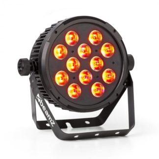 Beamz - Beamz BT310 FlatPAR 12x 8W 4-v-1-LEDs RGBAW-UV DMX IR-dálkové ovládání - 8715693284447