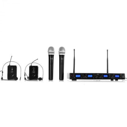 Malone - Bezdrátový mikrofonní set Malone UHF-550 Quartett3