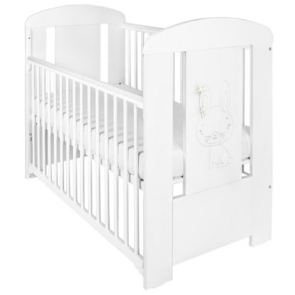 - Dětská postýlka New Baby Králíček se stahovací bočnicí bílá - 8596164039304