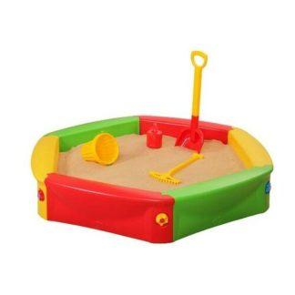 - Dětské plastové pískoviště s plachtou
