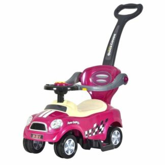 Ecotoys - Ecotoys Dětské odrážedlo se zvuky a vodící tyčí Auto