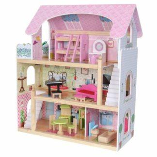 Ecotoys - Ecotoys Domeček pro panenky Pohádková rezidence s vybavením - 6942397341103