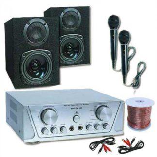 Electronic-Star - Electronic-Star Hi-Fi set HVA 200 + MC 130 + 2 mikrofony – karaoke - 4260130929060