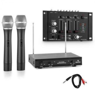 Electronic-Star - Electronic-Star Sada bezdrátových mikrofonů s 3 kanálovým zesilovačem
