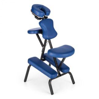 KLARFIT - KLARFIT MS 300 masážní křeslo tetovací křeslo 120 kg přenosná taška modrá barva - 4260486157001