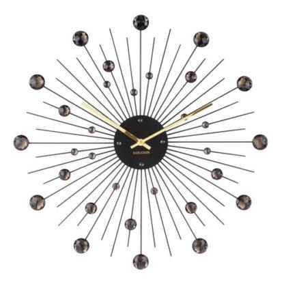 Karlsson - Karlsson 4859BK Designové nástěnné hodiny