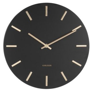 Karlsson - Karlsson 5821BK Designové nástěnné hodiny  pr. 30 cm - 8714302657276