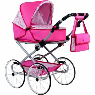 - Kočárek pro panenky NEW BABY Retro 2v1 Natálka růžový -