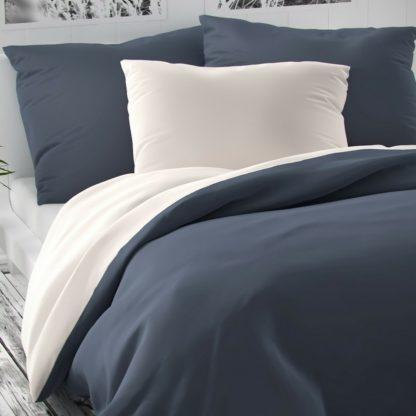 Kvalitex - Kvalitex Saténové povlečení Luxury Collection bílá/tmavě šedá