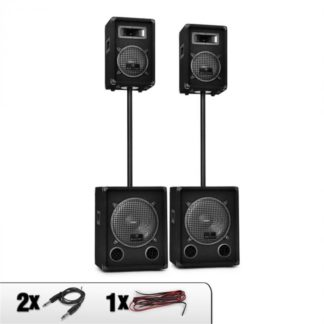 Malone - Malone 2.2 PA DJ Sound System Speakers & Subwoofer Set 2200W - 4260236115954