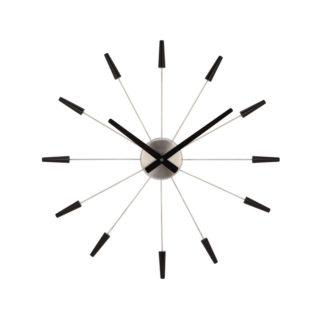 Nextime - Nextime Plug Inn 2610zw nástěnné hodiny černá - 8717545051313