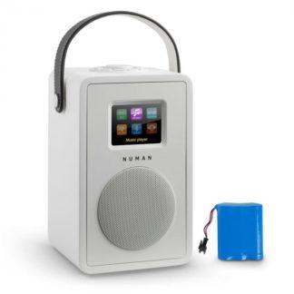 Numan - Numan Mini Two Design internetové rádio Wi-Fi DLNA bluetooth FM bílá včetně nabíjecí baterie - 4260509674560