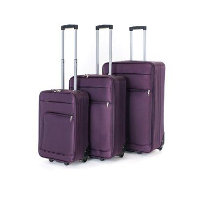 - Pretty UP Sada cestovních textilních kufrů TEX01 3 ks