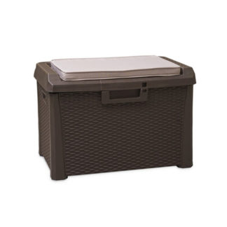 - Santorini Zahradní úložný box s polstrem - malý - barva hnědá - 8009371017015