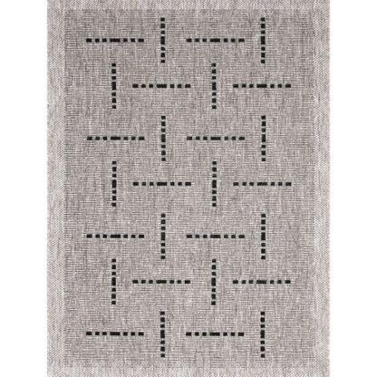 - Spoltex Kusový koberec Floorlux silver/black 20008