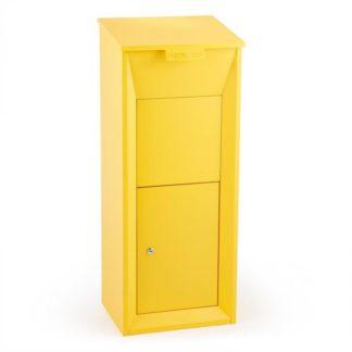 Waldbeck - Waldbeck Postbutler Paketbox poštovní schránka na balíky stojící poštovní schránka žlutá - 4260486153591