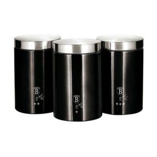 Berlinger Haus - Berlinger Haus 3dílná sada dóz Royal Black Collection - 5999108407420