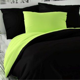 Kvalitex - Kvalitex Saténové povlečení Luxury Collection černá/světle zelená
