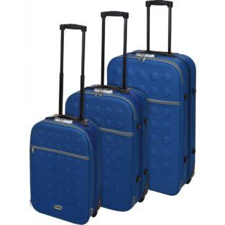 - Sada textilních kufrů na kolečkách 3 ks
