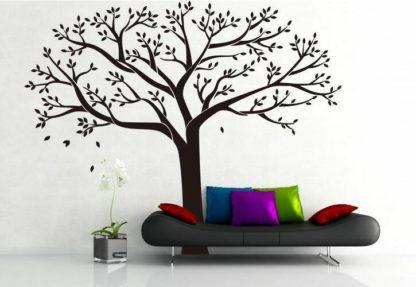 - Samolepicí dekorace XXL černý rodinný strom -