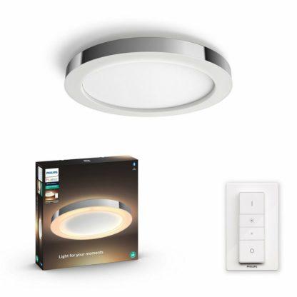 Philips - Hue LED White Ambiance Stropní koupelnové svítidlo Philips Adore BT 34184/11/P6 40W 2400lm 2200-6500K IP44 24V