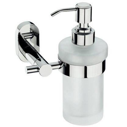 KELA - Kela Nerezový nástěnný dávkovač mýdla s držákem Lucido 250 ml - 4025457226953