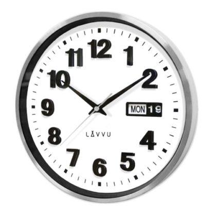 Lavvu - LAVVU DATE METAL LCT4050 kovové hodiny - 8596300026823