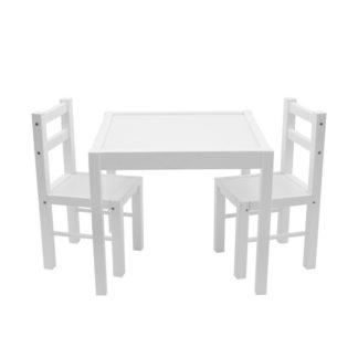 - New Baby Dětská dřevěná sada stolečku a židliček 3 ks