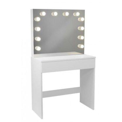 - Toaletní kosmetický stolek Gabina 80x40x140cm se zrcadlem - 5901292698607