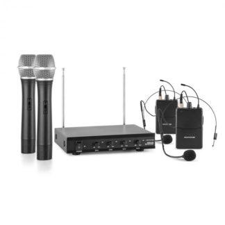 Auna Pro - Auna Pro VHF-4-H-HS 4kanálová VHF mikrofonní sada 2x headset 2x ruční mikrofon 50 m - 4260486152891