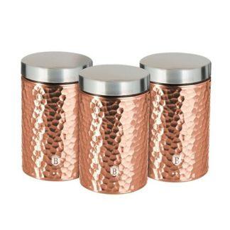 Berlinger Haus - Dóza na potraviny sada 3 ks Primal Rosegold Metallic Line - 5999108416514