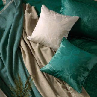 Stella Ateliers - Stella Ateliers Dekorační damaškový povlak na polštářek Juna zelená