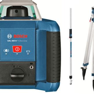 Elektrické nářadí > Měřící technika > Rotační lasery - BOSCH GRL 400 H rotační laser + stativ (sada)