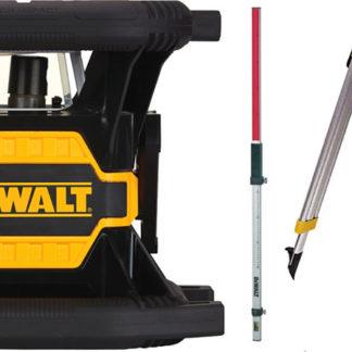Elektrické nářadí > Měřící technika > Rotační lasery - DeWALT DCE080D1GS zelený rotační laser - sada